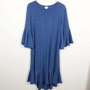 LuLaRoe Blue Maurine Dress 2XL